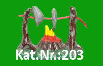 "Kat.Nr.: 203""Lagerfeuer II"""